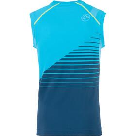 La Sportiva Stream Camiseta sin mangas running Hombre, opal/tropic blue